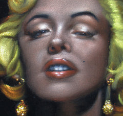 "Marilyn Monroe Portrait, Original Oil Painting on Black Velvet by Alfredo Rodriguez ""ARGO"" - #A148"