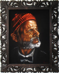 "Bill Murray Portrait,  Original Oil Painting on Black Velvet by Alfredo Rodriguez ""ARGO"" - #A149"