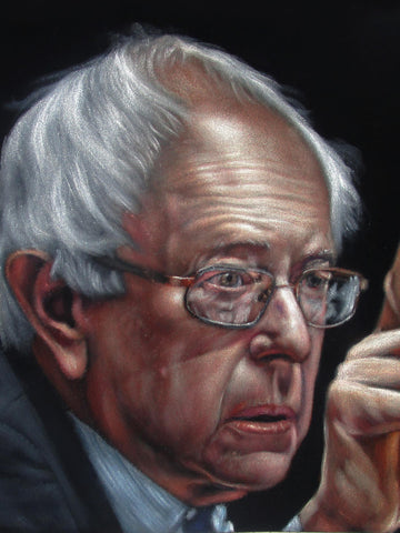 "Bernie Sanders,  Original Oil Painting on Black Velvet by Alfredo Rodriguez ""ARGO""  - #A163"