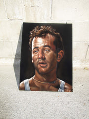 "Bill Murray Portrait, Original Oil Painting on Black Velvet by Alfredo Rodriguez ""ARGO"" - #A164"