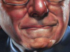 "Bernie Sanders,  Original Oil Painting on Black Velvet by Alfredo Rodriguez ""ARGO""  - #A173"