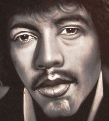 "Jimi Hendrix Portrait,  Original Oil Painting on Black Velvet by Arturo Ramirez ""ARGO"" - #R30"