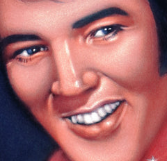 "Elvis Presley Portrait , Original Oil Painting on Black Velvet by Alfredo Rodriguez ""ARGO"" - #A51"