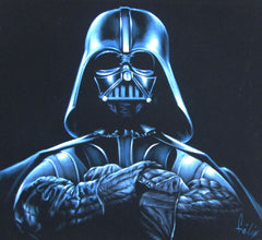 "Darth Vader, Star Wars, Original Oil Painting on Black Velvet by Enrique Felix , ""Felix"" - #F141"