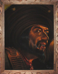 "Bandit, mexican bandito, Mexican outlaw, Original Oil Painting on Black Velvet by Enrique Felix , ""Felix"" - #F36"