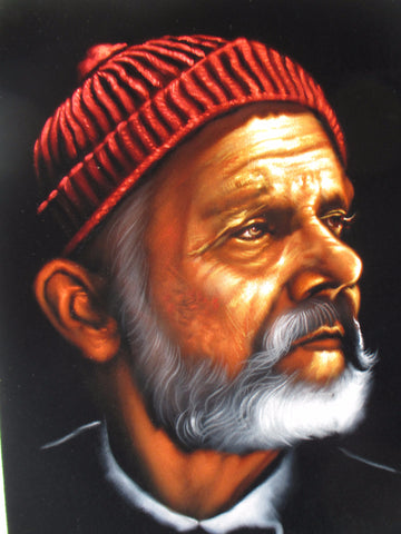 Bill Murray Portrait, The Life Aquatic with Steve Zissou, Oil Painting Portrait on Black Velvet; Original Oil painting on Black Velvet by Arturo Ramirez - #R23