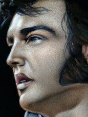 "Elvis Presley Portrait , Original Oil Painting on Black Velvet by Alfredo Rodriguez ""ARGO"" - #A320"