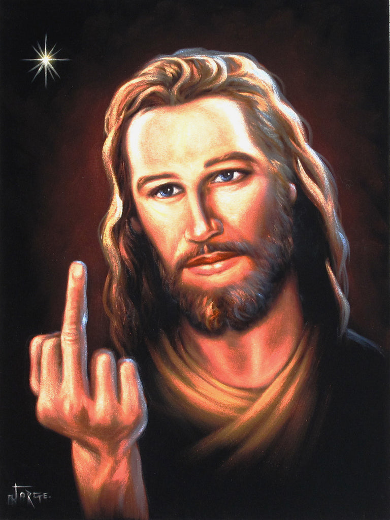 Image result for jesus middle finger