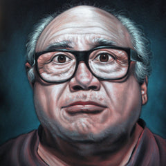 Danny Devito from 'Always Sunny in Philadelphia':  Original Oil painting on Black Velvet by Jorge Terrones - #j388
