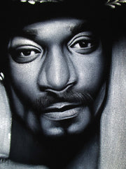 Snoop Dogg portrait; Calvin Cordozar Broadus, Jr; Original Oil painting on Black Velvet by Zenon Matias Jimenez- #JM138