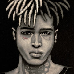 "Xxxtentacion , Jahseh  Onfroy; rapper; Original Oil painting 11""X16"" on Black Velvet by Zenon  Jimenez- #JM259"
