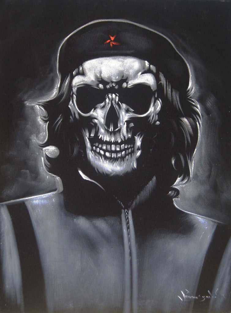 Che Guevara Calavera Skull Portrait Day Of The Dead