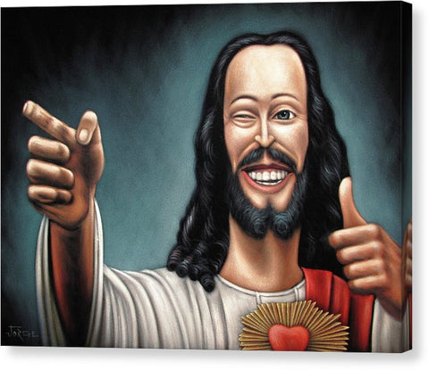 Buddy Christ From Dogma Movie - Canvas Print