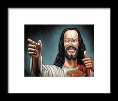 Buddy Christ From Dogma Movie - Framed Print