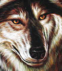 "Wolf ,  Gray Wolf,  Original Oil Painting on Black Velvet by Enrique Felix , ""Felix"" - #F146"