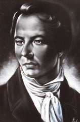 "Joseph Smith Portrait, Mormon Founder,   Original Oil Painting on Black Velvet by Enrique Felix , ""Felix"" - #F162"