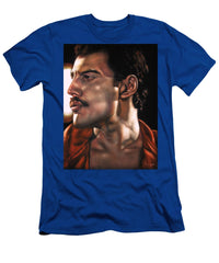 Freddie Mercury Portrait Sexy Queen Band  - Men's T-Shirt (Athletic Fit)