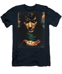 Lord Of The Rings Fellowship Frodo Original Oil Painting  - Men's T-Shirt (Athletic Fit)