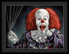 Pennywise The Dancing Clown Or Bob Gray - Framed Print