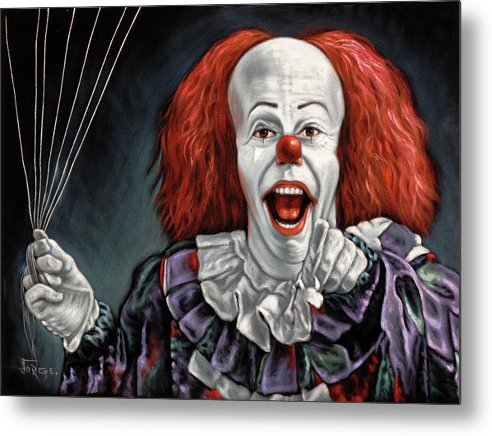 Pennywise The Dancing Clown Or Bob Gray - Metal Print