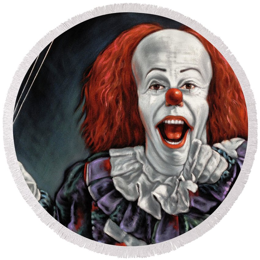 Pennywise The Dancing Clown Or Bob Gray - Round Beach Towel