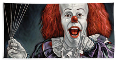 Pennywise The Dancing Clown Or Bob Gray - Beach Towel