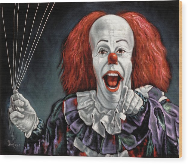 Pennywise The Dancing Clown Or Bob Gray - Wood Print