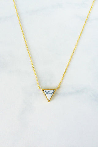 Marble Necklace – Triangle