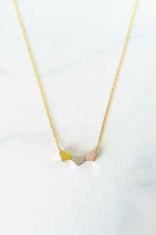 3 Hearts Necklace – Gold