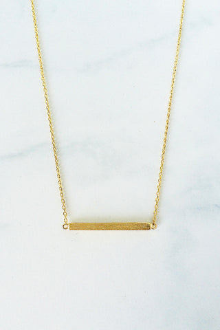 Bar Necklace – Gold