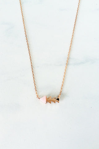 Arrow Necklace – Pink