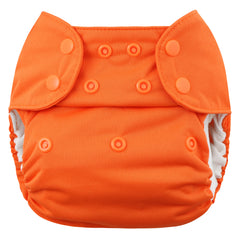 Orange, Blueberry One Size Simplex All-In-One Diaper, www.bellylaughs.ca