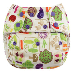 Veggies, Blueberry One Size Simplex All-In-One Diaper, www.bellylaughs.ca