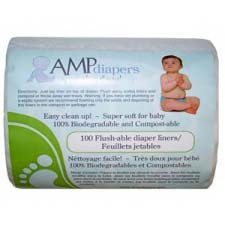 , AMP Flushable Diaper Liners, www.bellylaughs.ca