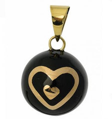Black Hearts, The BOLA Pregnancy Pendant, www.bellylaughs.ca