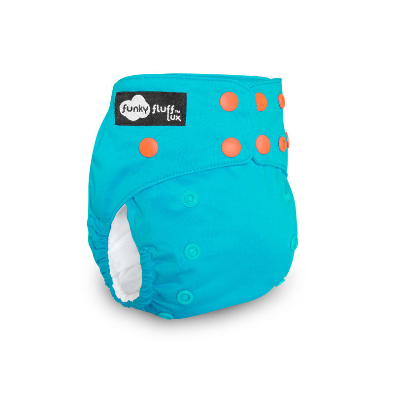 Aloha, Funky Fluff Lux Bamboo Diaper, www.bellylaughs.ca