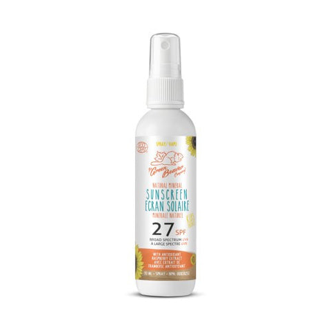 Green Beaver SPF 27 Natural Mineral Sunscreen Spray for KIDS