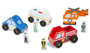 , Melissa & Doug Emergency Vehicle Set, www.bellylaughs.ca