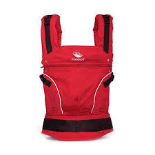 Pure Cotton Chili Red, Manduca Baby and Toddler Carrier, www.bellylaughs.ca