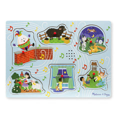Nursery Rhymes 2, Melissa & Doug Wooden Sound Puzzles, www.bellylaughs.ca