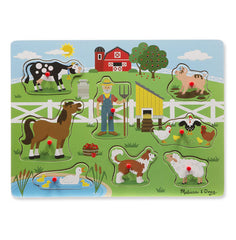 Old MacDonalds Farm, Melissa & Doug Wooden Sound Puzzles, www.bellylaughs.ca