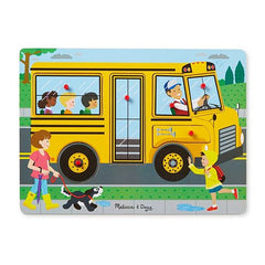 Wheels On The Bus, Melissa & Doug Wooden Sound Puzzles, www.bellylaughs.ca