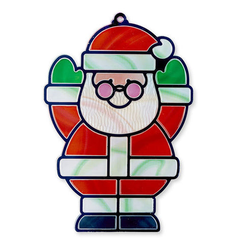 Melissa & Doug Stained Glass Made Easy- Santa & Tree Ornaments