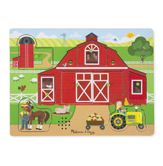 Around the Farm, Melissa & Doug Wooden Sound Puzzles, www.bellylaughs.ca