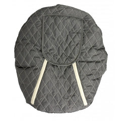 Slate Grey, Mint Marshmallow Car Seat Cover, www.bellylaughs.ca