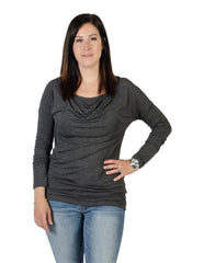 Small / Heather Grey, Momzelle Alice Nursing Top, www.bellylaughs.ca