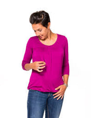 Small / Orchid, Momzelle Juliette Nursing Top, www.bellylaughs.ca