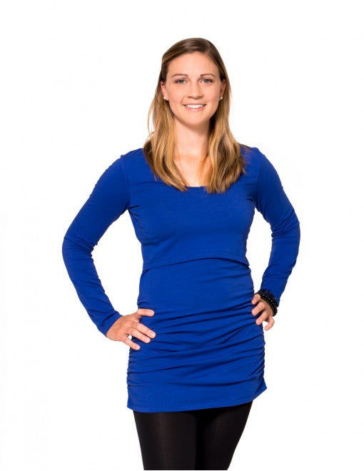 Deep Indigo / Small, Momzelle Molly Nursing Top, www.bellylaughs.ca