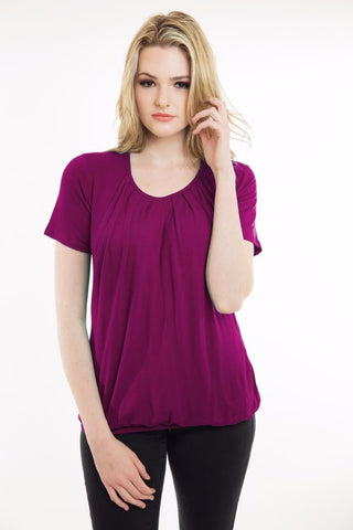 Nurture-Elle Pleated Nursing Top