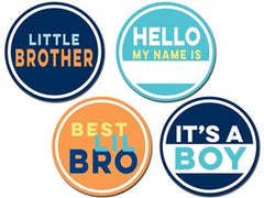 Sticky Bellies Little Brother / Sister Stickers
